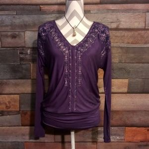 Purple Knox Rose long sleeve shirt size small